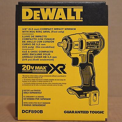 "Brand New DEWALT DCF890B 20V Max XR 3/8"" Compact Impact Wrench"