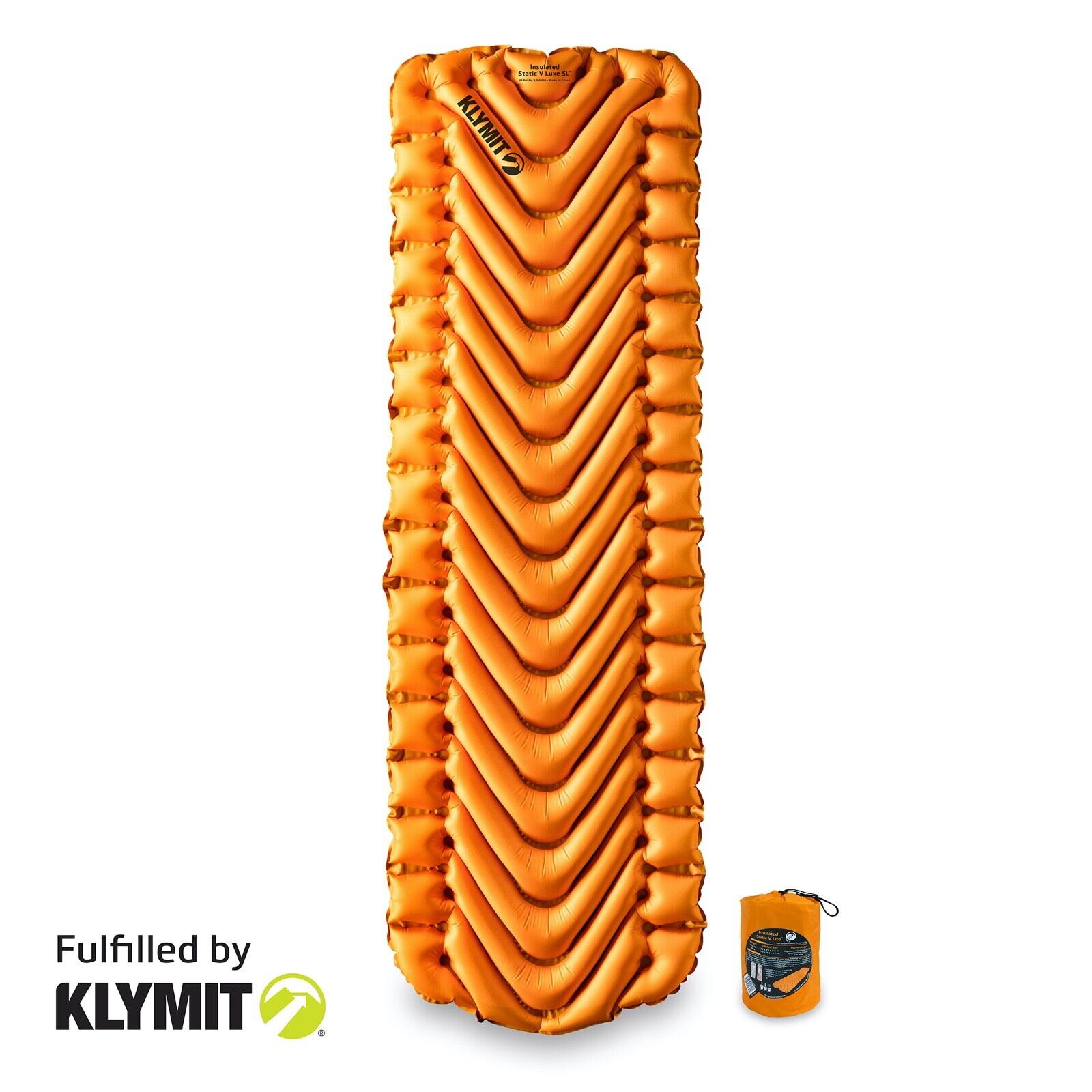 Klymit Insulated Static V Lite Camping Sleeping Pad - Certified Refurbished