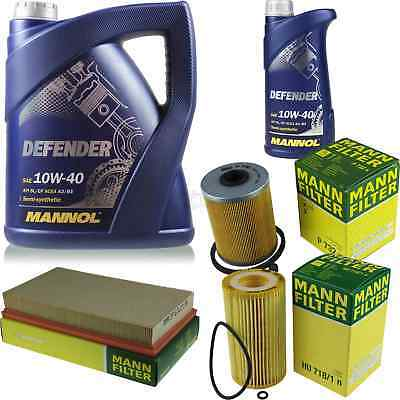 Motor Oil 6L Mannol Defender 10W-40 + Mann Filter Filter Saab 9-3 2.2