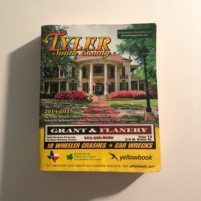 2014-2015 Tyler Texas Smith County Yellow Pages