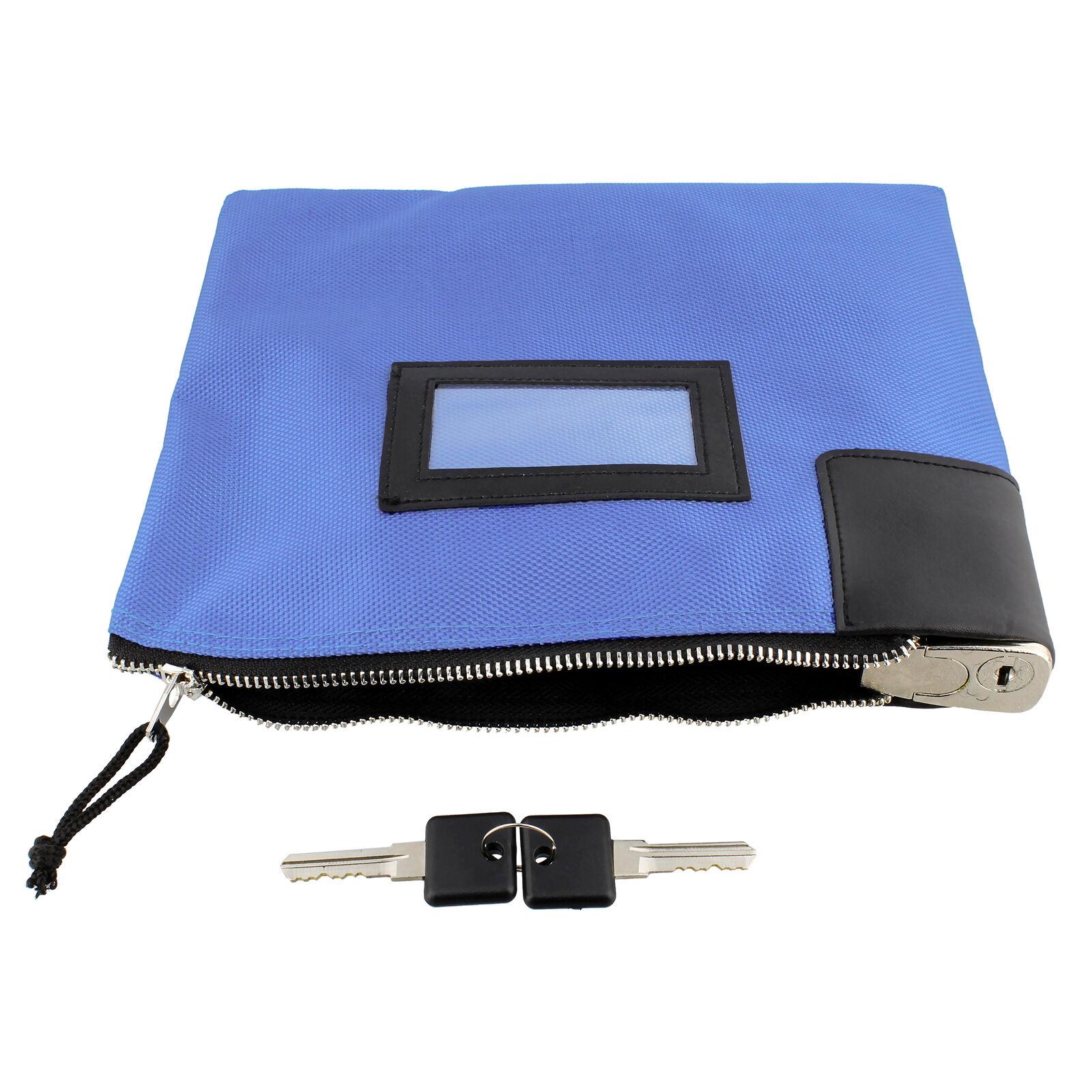 BISupply  Locking Money Bag Lock Bag Bank Bag with Lock Cash Bag in Bright Blue