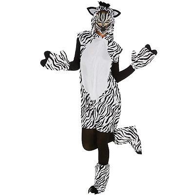 Zebra Kostüm Frauen Männer Karneval Fasching Halloween Afrika Safari Einteiler