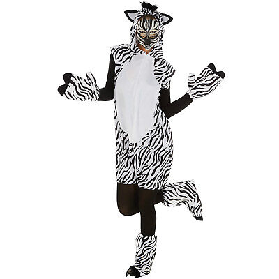 Zebra Kostüm Frauen Männer Karneval Fasching Halloween Afrika Safari - Safari Kostüm Halloween