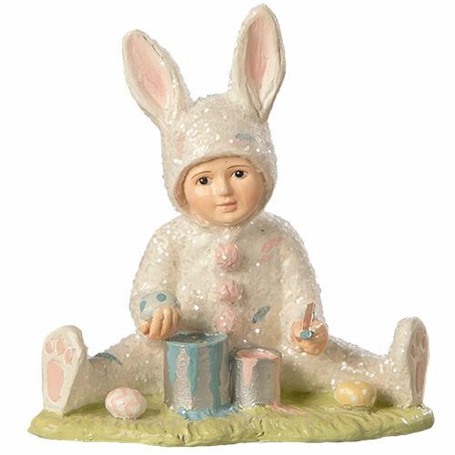 Bethany Lowe Spring Egg Painting Sammy Easter Retro Vntg Decor Glitter Figurine