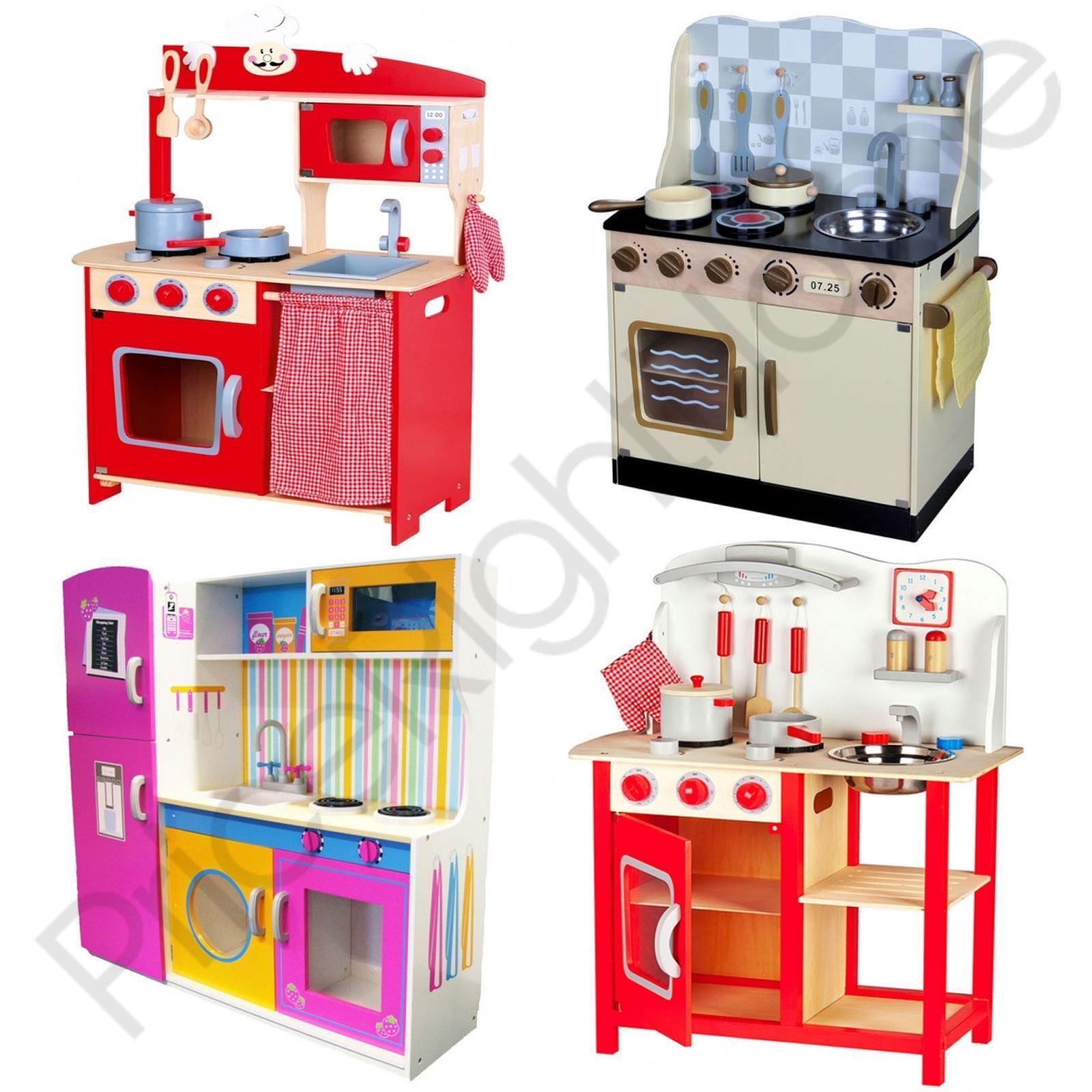 leomark h lzerne k che kinder spiel k che mit zubeh r spielsachen neu ebay. Black Bedroom Furniture Sets. Home Design Ideas