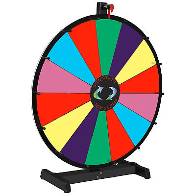 Prize Wheel 24 Editable Stand Fortune Spinning Game Tabletop Color Dry Erase