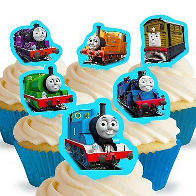 Cakeshop 12 x Essbare Thomas und seine Freunde Kuchen Dekoration ()