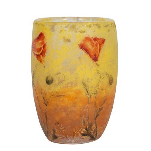 Daum Nancy Cameo and Enamel Glass Vase,  France, circa 1910