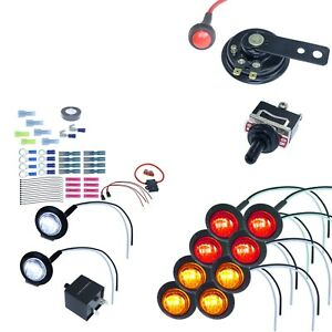 DIY ATV UTV Turn Signal Street Legal LED Light Kit Horn Polaris Ranger RZR Teryx
