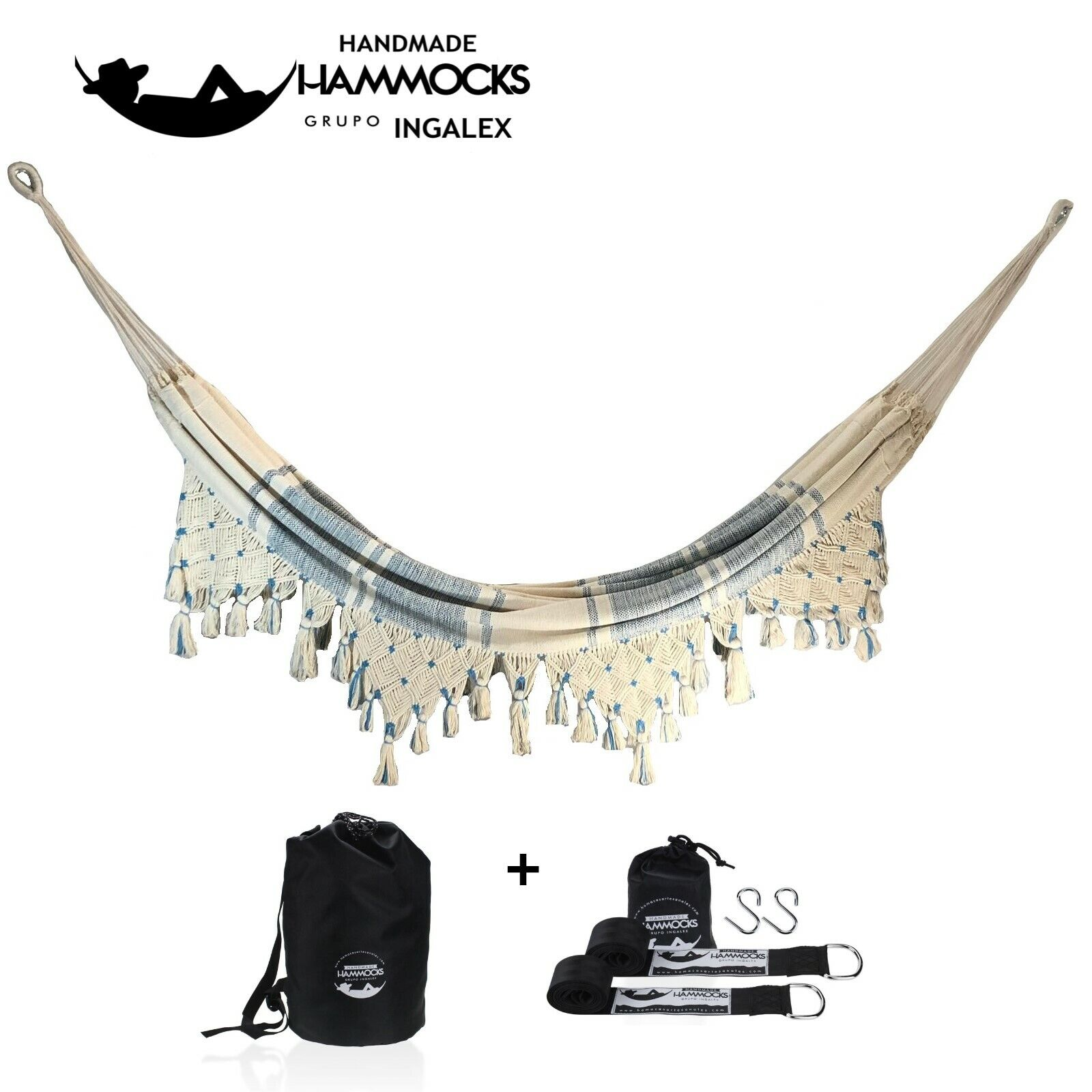 MACA AMACA Hammock with Hanging Strap and Carry Bag Soft Wov