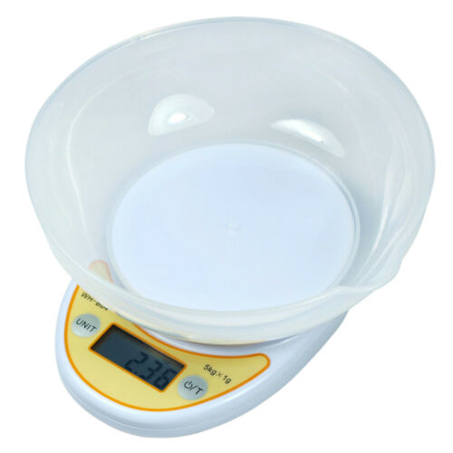 Clearance: 11 lbs x 1g Digital Kitchen Scale Diet Food Scale with Weighing Bowl