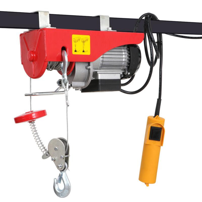 NEW Mini Electric Wire Cable Hoist Winch Crane Lift Overhead + Remote Control US
