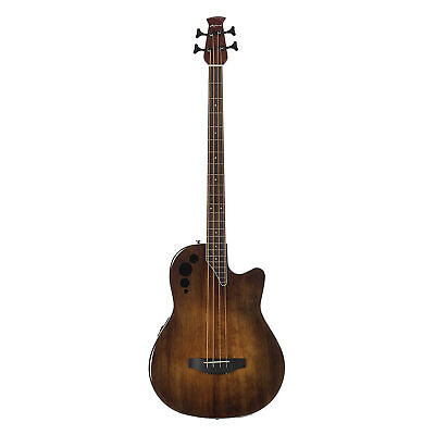 Ovation Applause 4-String Acoustic Electric Bass Guitar, Vintage Varnish