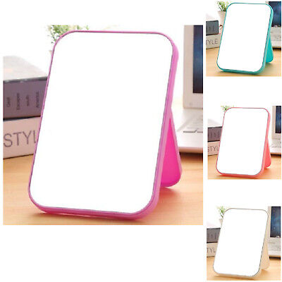 Small Purple Girls Travel Desk Hand Held Makeup Standing Mirror Accessories Purple Compact Mirror