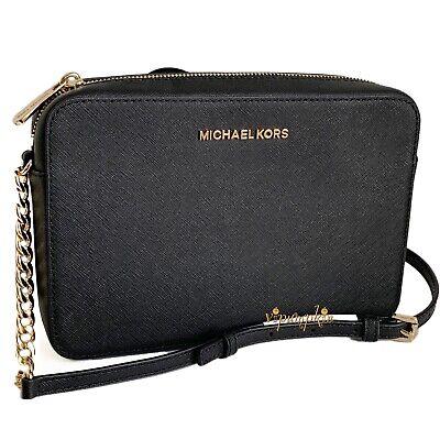 Michael Kors Jet Set Item Crossbody Bag Saffiano Leather Black
