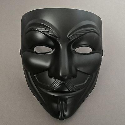 V for Vendetta Black Anonymous Guy Fawkes Costume Mask ()