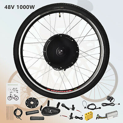 48V 1000W 26'' Rear Wheel E-bike Electric Bicycle Kit Conversion Cycling Motor for sale  USA
