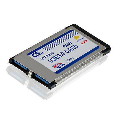 Express Notebook (2 Port USB 3.0 Express Card - 2x USB3.0 Karte Notebook Adapter)