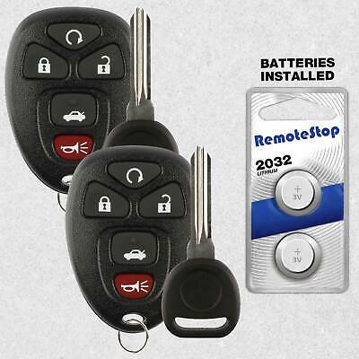 2 For 2006 2007 2008 2009 2010 Chevrolet Cobalt Keyless Remote Car Fob + Key