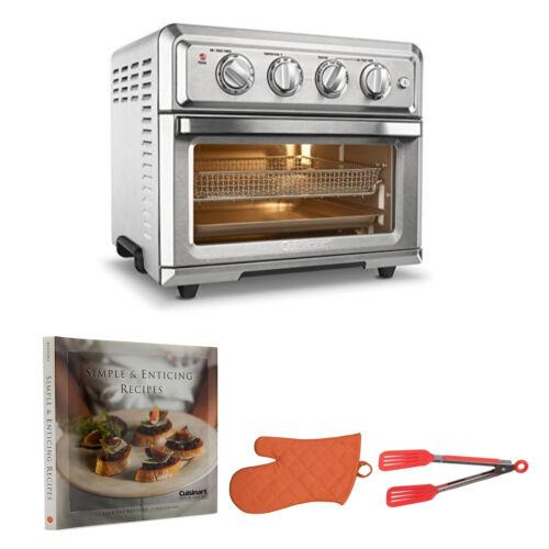 Cuisinart TOA60 Air Fryer Toaster Oven + Oven Mitt, Flipper