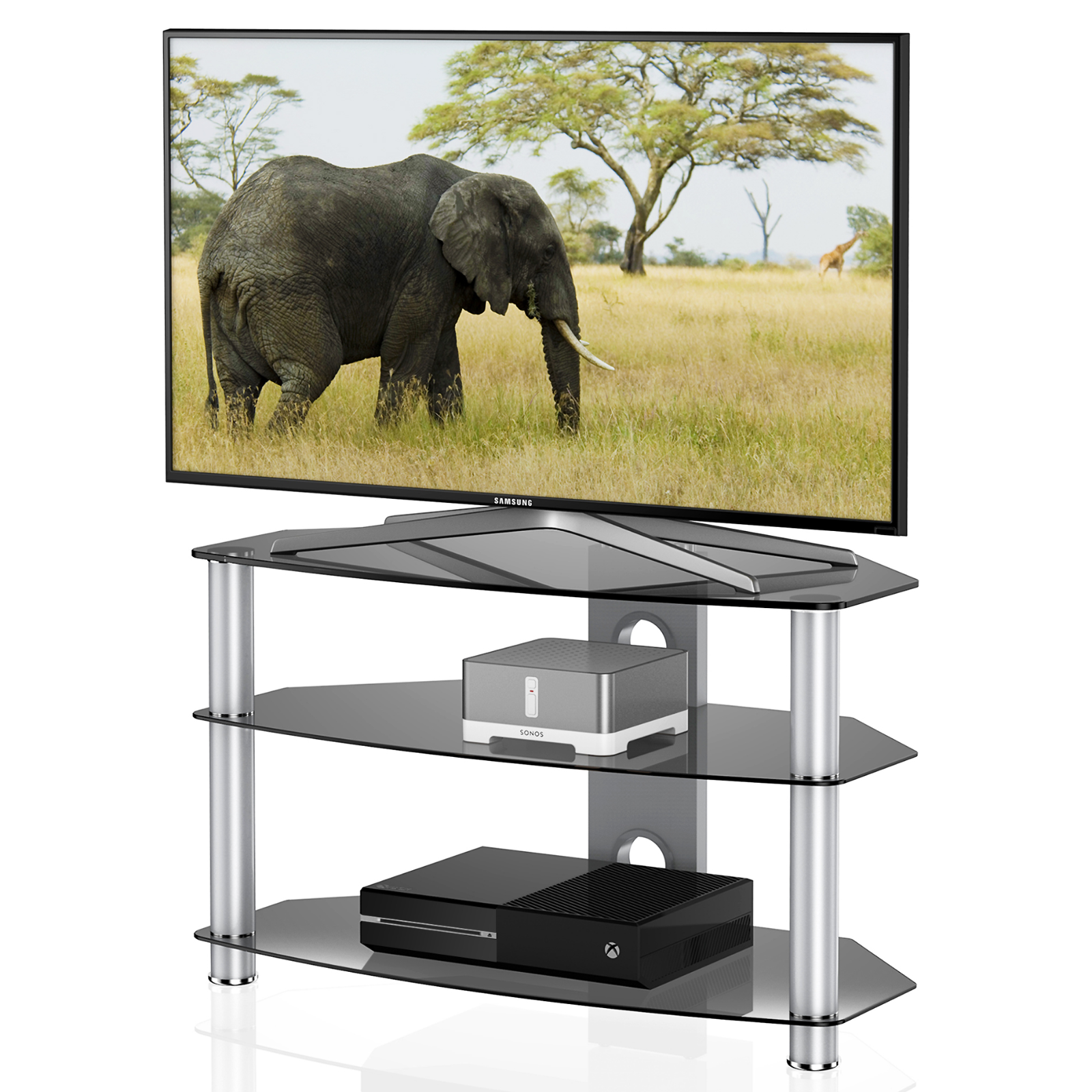 Fitueyes Tv Stand with Swivel Mount Bracket for 42-80 Inch T
