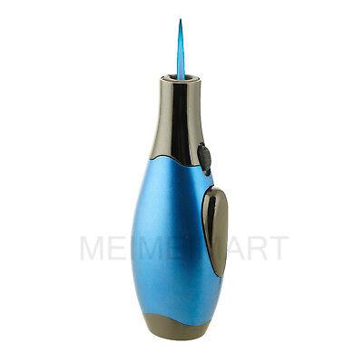 Single Jet Torch Lighter Adjustable Windproof Butane Refillable Water Drop Shape