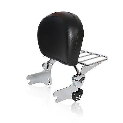 - Passenger Backrest Sissy Bar + Luggage Rack For Harley Touring FLHR FLHX 94-08