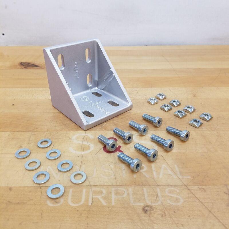 MiniTec 21.0978, 90 Degree Cast Aluminum Angle Brackets, 85mm x 85mm - NEW