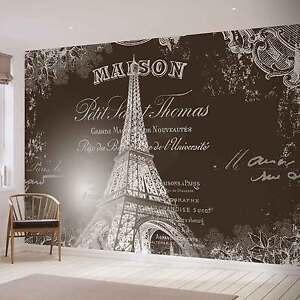Image Is Loading PHOTO WALLPAPER WALL MURAL 2427VE Paris Eiffel Tower  Idea