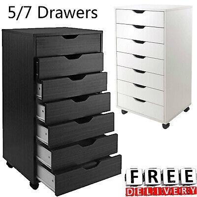 57 Drawer Rolling File Cabinet Wood Office Holder Document Storage Organizer Us
