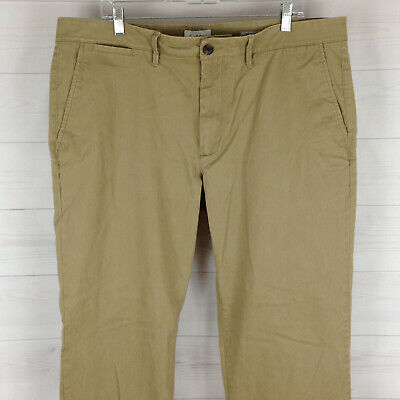Goodfellow mens 40 x 32 solid beige flat front straight Hennepin chino pants EUC