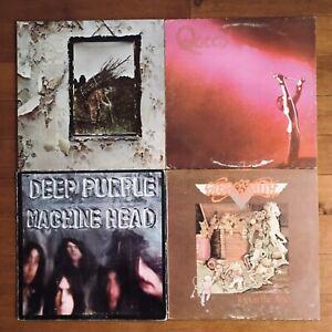 Lot of 12 Vinyl Records (Zeppelin/Queen/Deep Purple/etc)