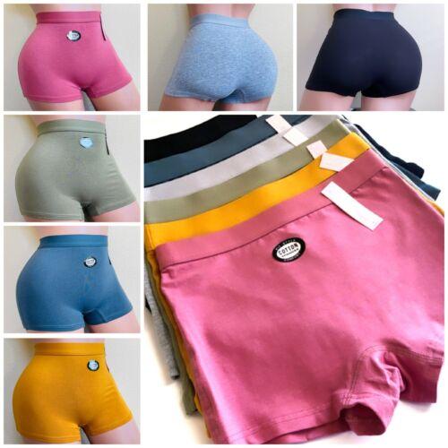 6 Boyshort Sports Yoga Shorties Gifts Panties Undies Active Wear Underwear S-XL