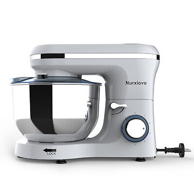 Electric 7QT Food Stand Mixer Tilt-Head Stainless Steel Bowl 660W 6 Speed Silver
