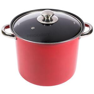 24cm stock pot 8 5 litre non stick casserole slow cooking dish induction hob ebay. Black Bedroom Furniture Sets. Home Design Ideas