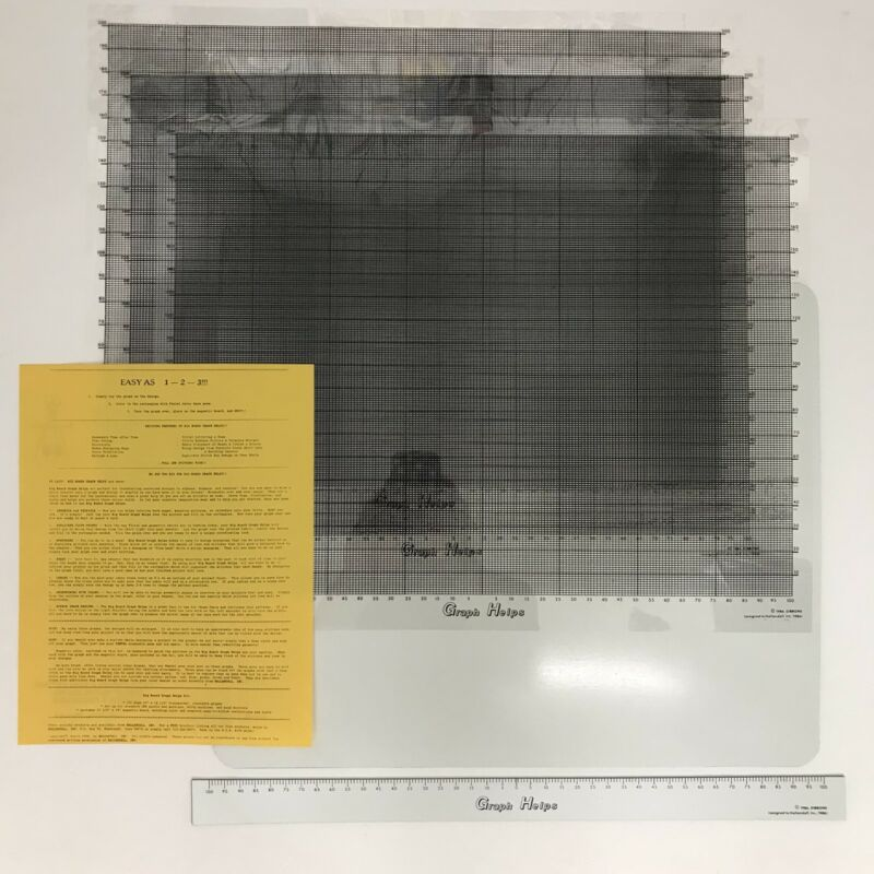 Hallandall Big Board Graph Helps 19x14.5 Transparent Machine and Hand Knitters