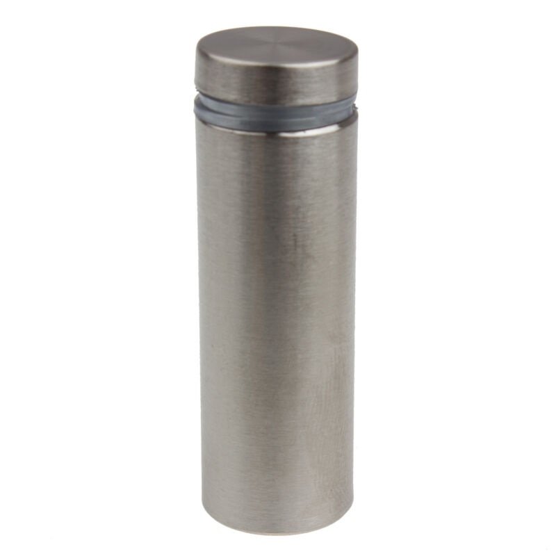 "GlideRite 3/4"" Dia x 2"" Ln Stainless Steel Standoff  Glass Sign - 2464-BSS-1"