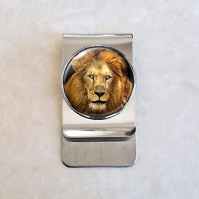 Lion Feline Big Cat Stainless Steel Money Clip