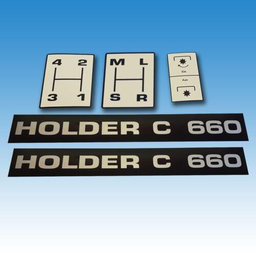 Aufkleber-Satz Holder C 650 5-teilig Traktor Schlepper 015327 Foto 1
