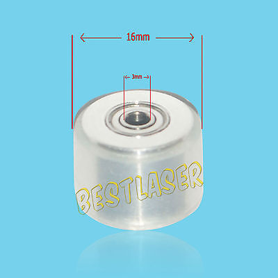 White Silicagel Wheels Pinch Roller For Vinyl Cutting Plotter High Quality 2 Pcs