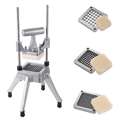Stainless Steel French Fry Cutter Potato Vegetable Slicer Chopper 4 Blades Usa