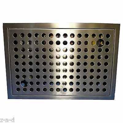 TROPFBLECH / TROPFSCHALE /  ABTROPFBLECH CNS ZUM EINLASSEN 330 X 230 mm -