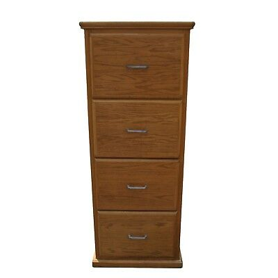 Vintage Oak Four Drawer Filing Cabinet Mr15446