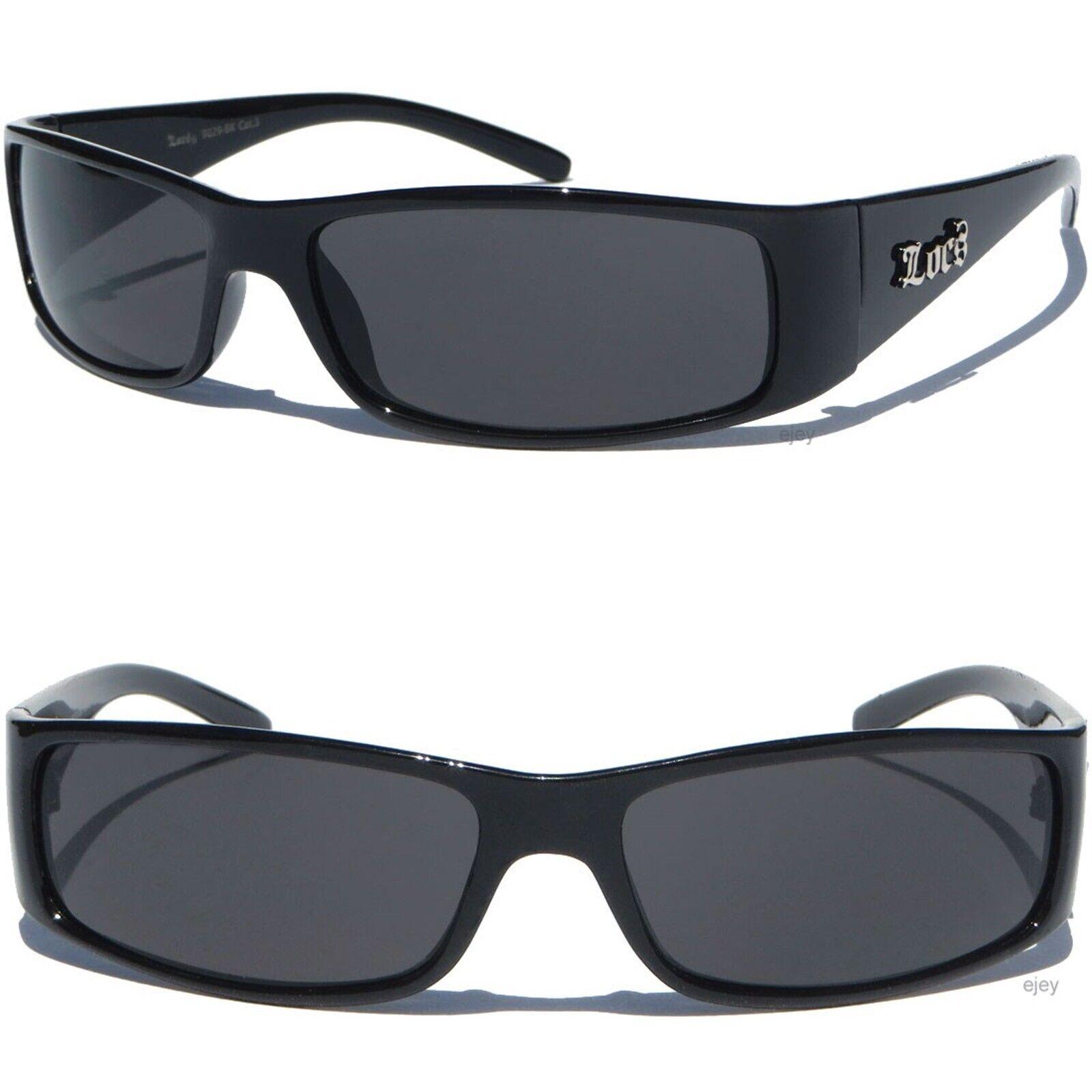 KIDS SIZE LOCS Sunglasses Child Size Boys Shades Black Frame Dark Lens Sunnies