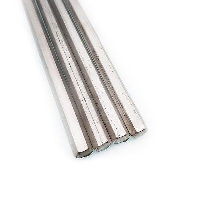 Us Stock 4pcs 0.3158mm 12 Long Stainless Steel Hexagonal Hex Bar Rod Shaft