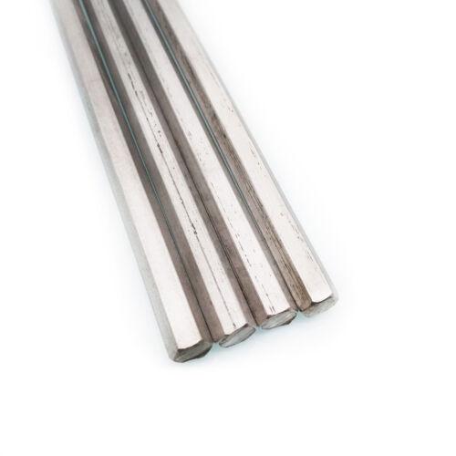 "US Stock 4pcs 0.315""(8mm) 12"" Long Stainless Steel Hexagonal Hex Bar Rod Shaft"
