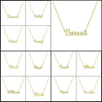 Personalized Name Necklace 18K Gold Plated Kids Baby Gift Jewelry for Women Girl