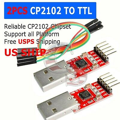Cp2102 Usb 2.0 To Uart Ttl 6pin Module Serial Converter Adapter Redsilver Ts