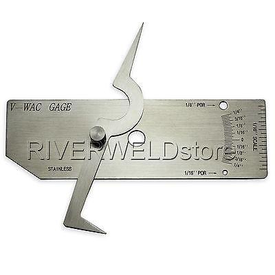 V-wac Gage Biting Edge Single Welding Gauge Welder Inspection Inch Stainless