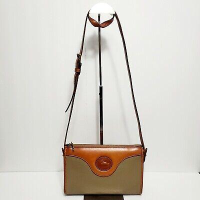 DOONEY & BOURKE Beige & Brown Grain Pebbled Leather Crossbody Shoulder Small Bag
